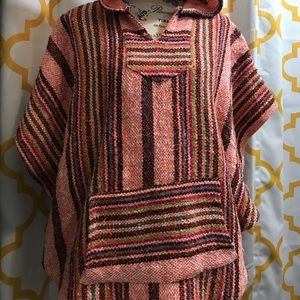 Sweaters - Lovely pancho in fun vibrant colors